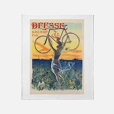 Paris Bike Throw Blanket