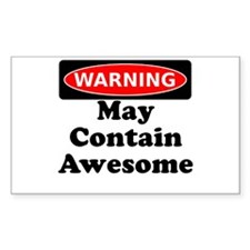 Warning May Contain Awesome Decal