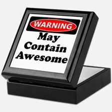Warning May Contain Awesome Keepsake Box