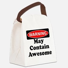 Warning May Contain Awesome Canvas Lunch Bag