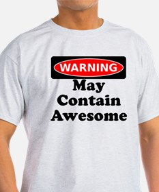 Warning May Contain Awesome T-Shirt