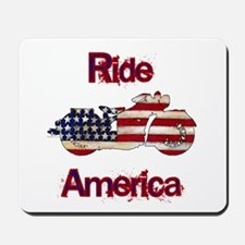 Flag-painted motorcycle-RIDE-1 Mousepad