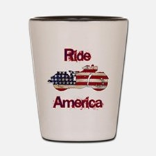 Flag-painted motorcycle-RIDE-1 Shot Glass