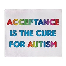 Autism Acceptance Throw Blanket