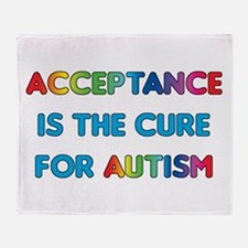 Autism Acceptance Throw Blanket