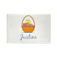 Easter Basket Justine Rectangle Magnet