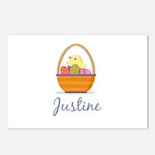 Easter Basket Justine Postcards (Package of 8)
