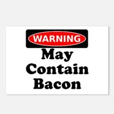 May Contain Bacon Warning Postcards (Package of 8)