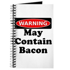 May Contain Bacon Warning Journal