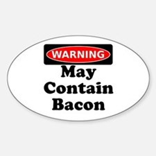 May Contain Bacon Warning Decal