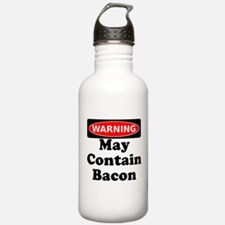 May Contain Bacon Warning Water Bottle