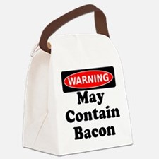 May Contain Bacon Warning Canvas Lunch Bag