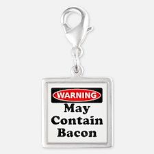 May Contain Bacon Warning Charms