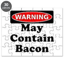 May Contain Bacon Warning Puzzle