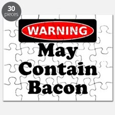 May Contain Bacon Warning Puzzle
