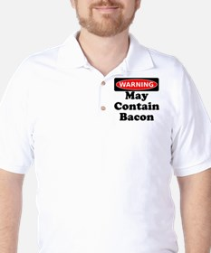 May Contain Bacon Warning T-Shirt