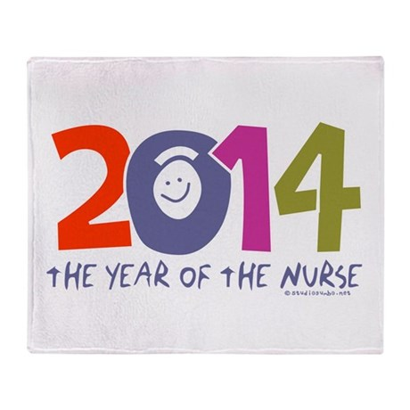 2014 Year of the Nurse Throw Blanket