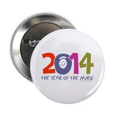 """2014 Year of the Nurse 2.25"""" Button"""