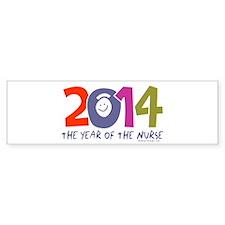 2014 Year of the Nurse Bumper Sticker