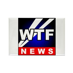 WTF News Rectangle Magnet (100 pack)