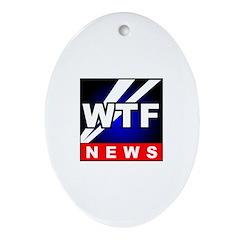 WTF News Oval Ornament