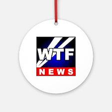 WTF News Ornament (Round)