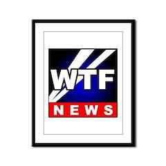 WTF News Framed Panel Print
