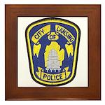 Lansing Police Framed Tile