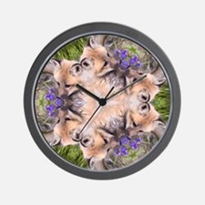 Red Fox Mandala Wall Clock