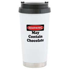 Warning May Contain Chocolate Travel Mug