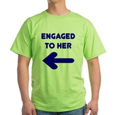 Engaged Arrow Ash Grey T-Shirt