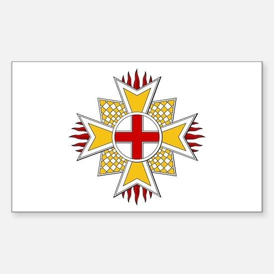 Order of St. George (Bavaria) Sticker (Rectangular