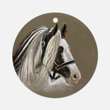 Gypsy Stallion Keepsake Ornament (Round)