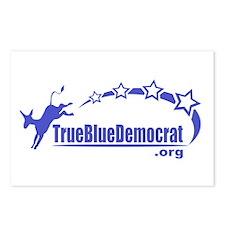True Blue Democrat Postcards (Package of 8)