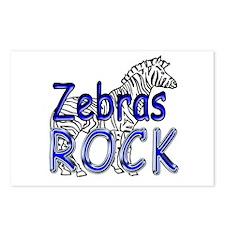 Zebras Rock Postcards (Package of 8)