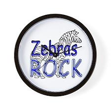Zebras Rock Wall Clock
