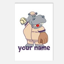 Personalized Softball Hippo Postcards (Package of