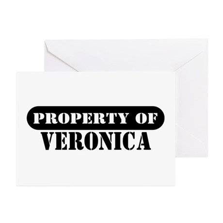 Property of Veronica Greeting Cards (Pk of 10)