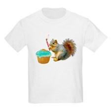Squirrel Candle Cupcake T-Shirt