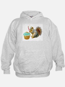 Squirrel Candle Cupcake Hoodie