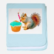 Squirrel Candle Cupcake baby blanket