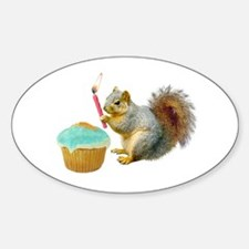 Squirrel Candle Cupcake Decal
