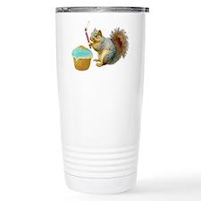 Squirrel Candle Cupcake Thermos Mug