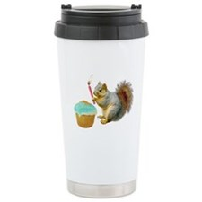 Squirrel Candle Cupcake Travel Mug