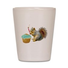 Squirrel Candle Cupcake Shot Glass
