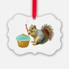 Squirrel Candle Cupcake Ornament
