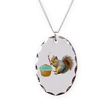 Squirrel Candle Cupcake Necklace