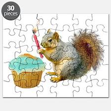 Squirrel Candle Cupcake Puzzle
