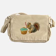 Squirrel Candle Cupcake Messenger Bag