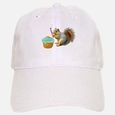 Squirrel Candle Cupcake Baseball Baseball Cap